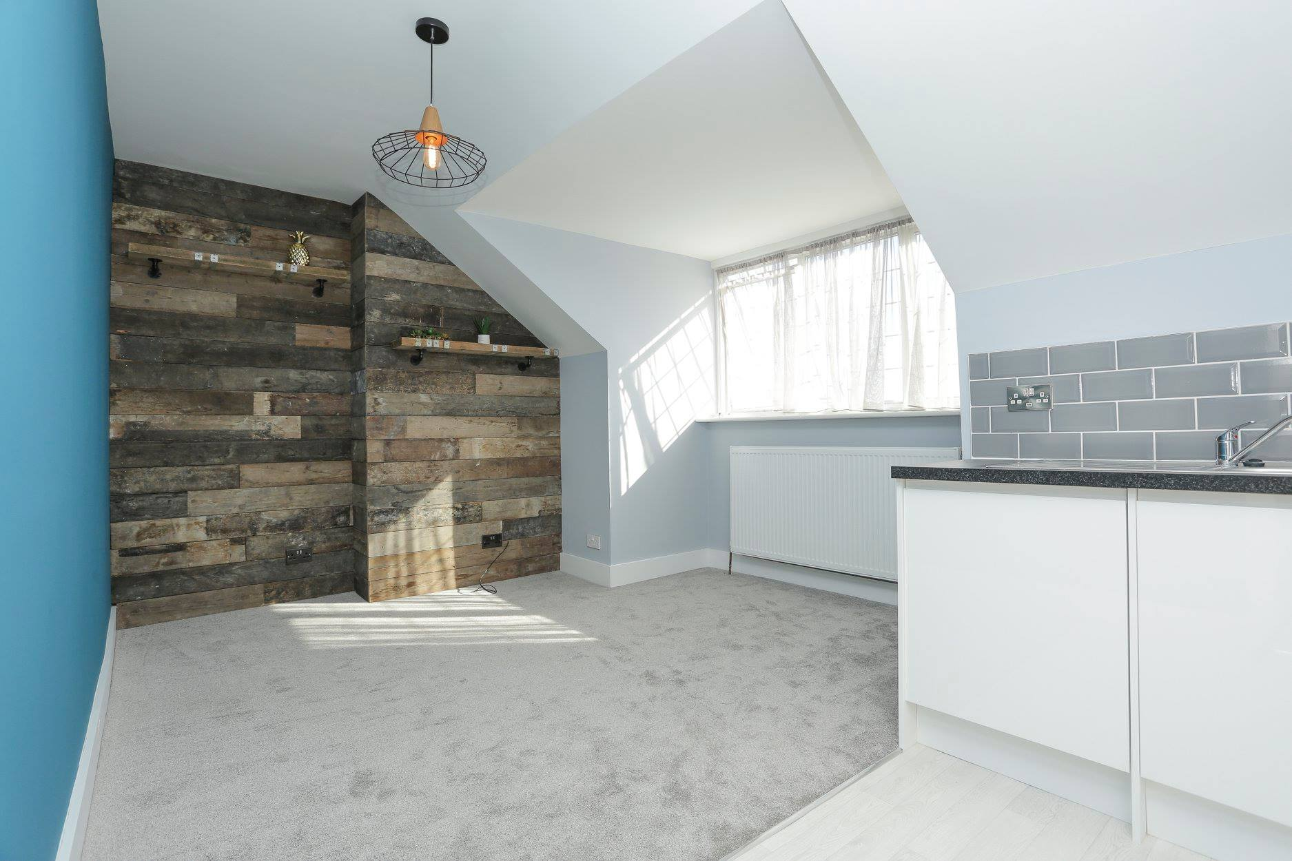 Studio to one-bed apartment upgrade in Surrey Road